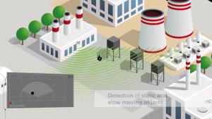 Esempio di applicazione radar ad vasta area industriale