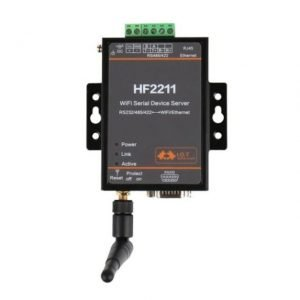 HF2211 - WiFi Serial Server - Convertitore Seriale (RS232/RS422/RS485) a Ethernet/Wi-Fi (con antenna SMA)