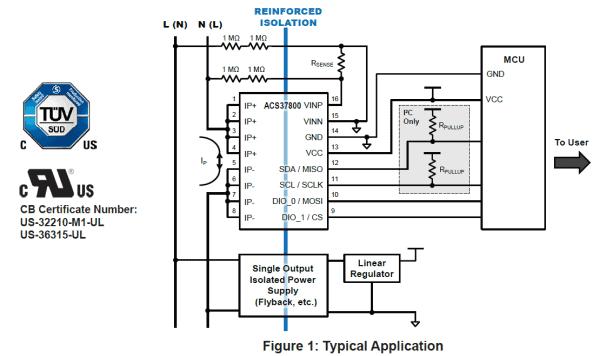 sensore di corrente IC ACS37800